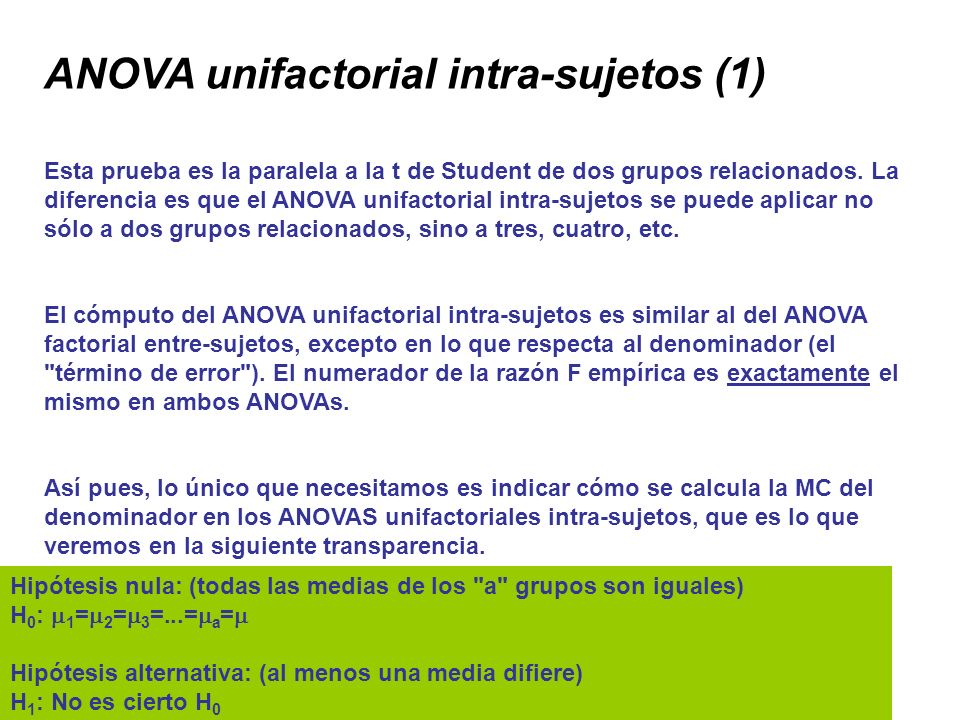 ANOVA unifactorial intra-sujetos (1)