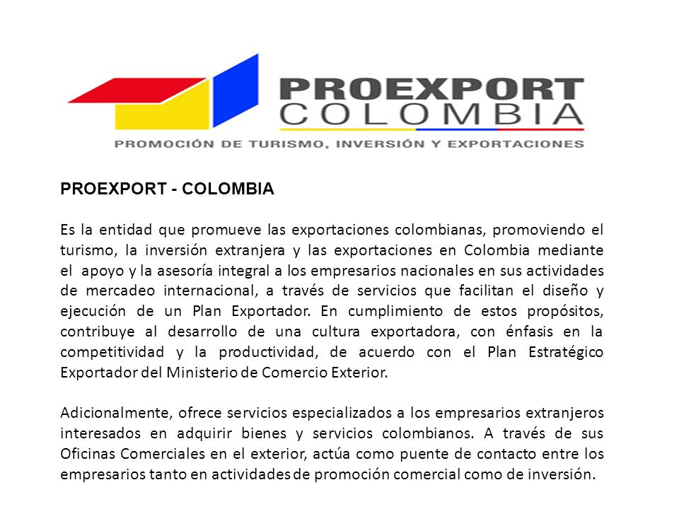 PROEXPORT - COLOMBIA