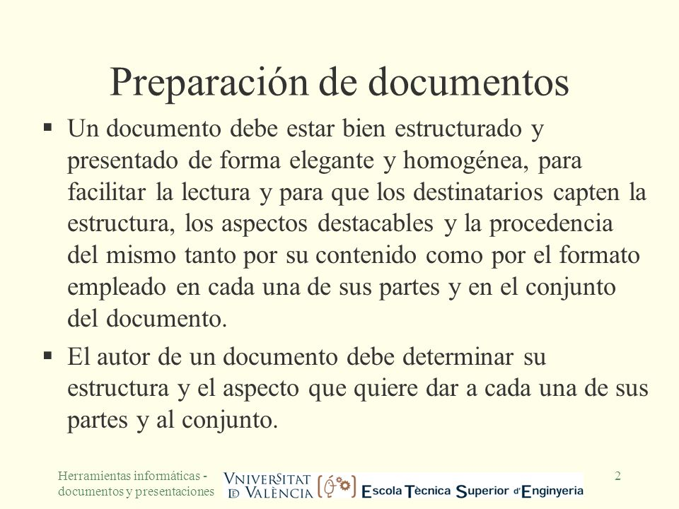 Preparación de documentos