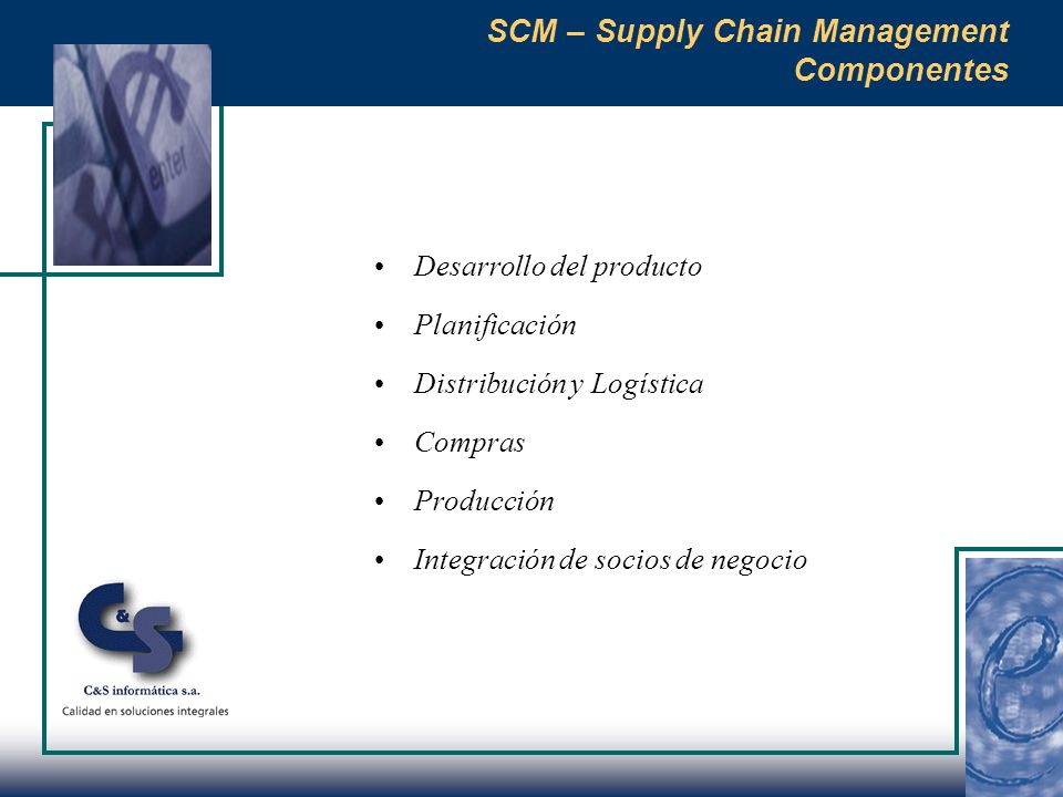 SCM – Supply Chain Management Componentes