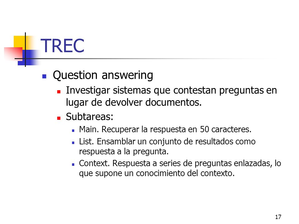 TREC Question answering