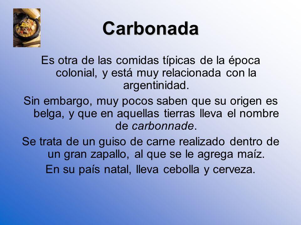 Recetas coloniales argentinas 1810