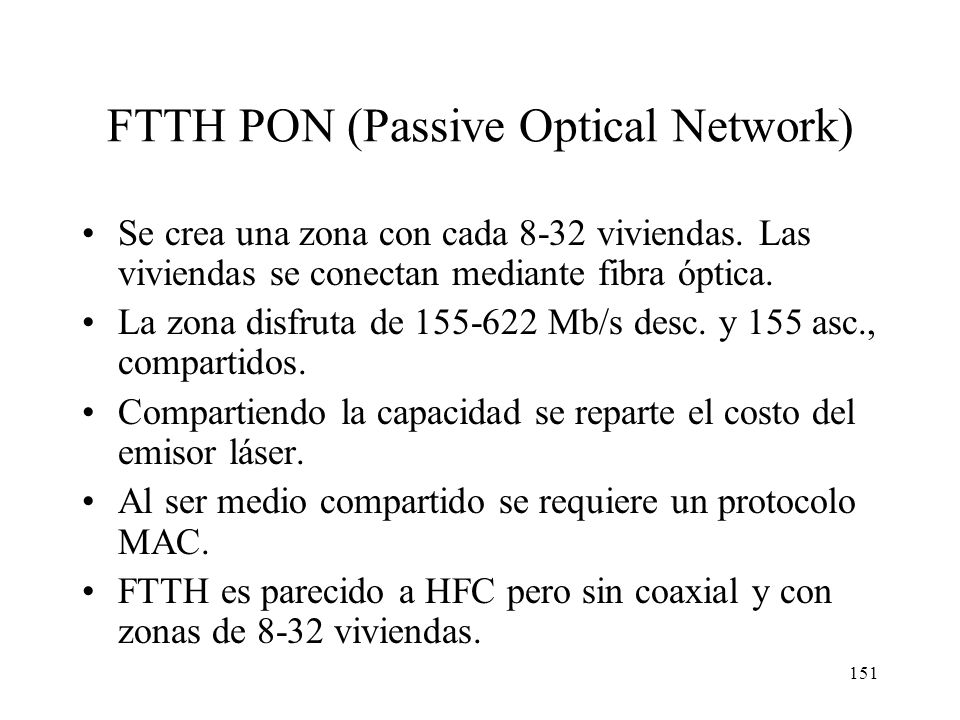 FTTH PON (Passive Optical Network)