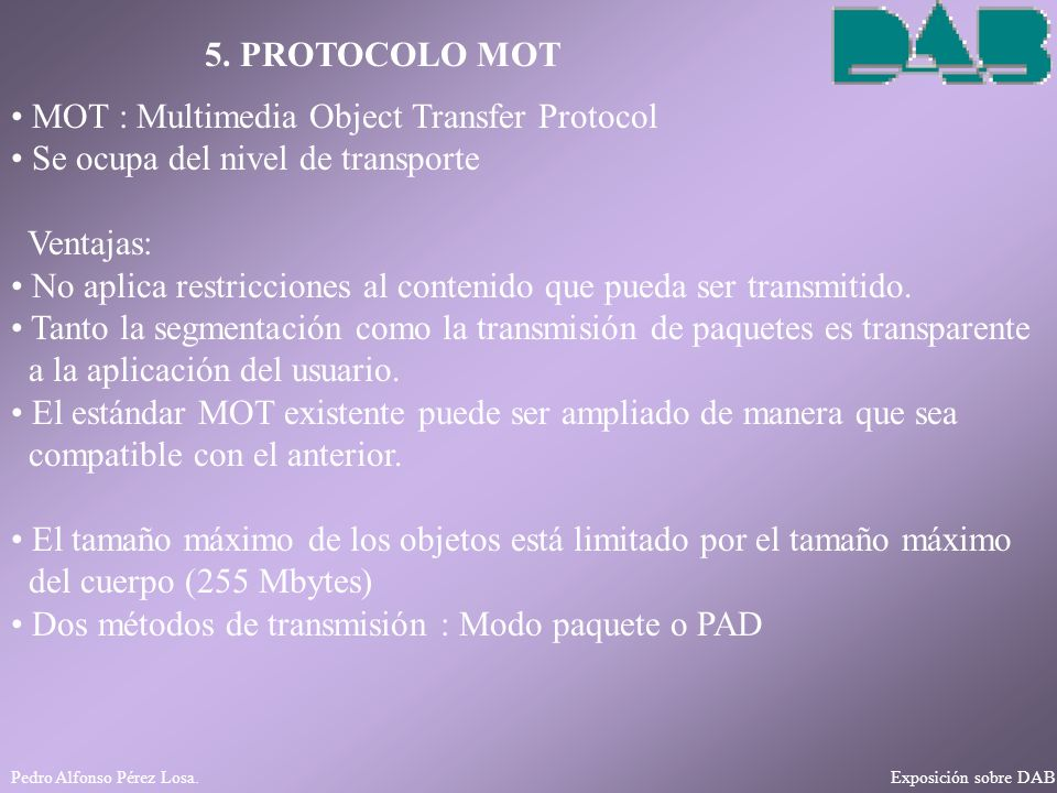 MOT : Multimedia Object Transfer Protocol