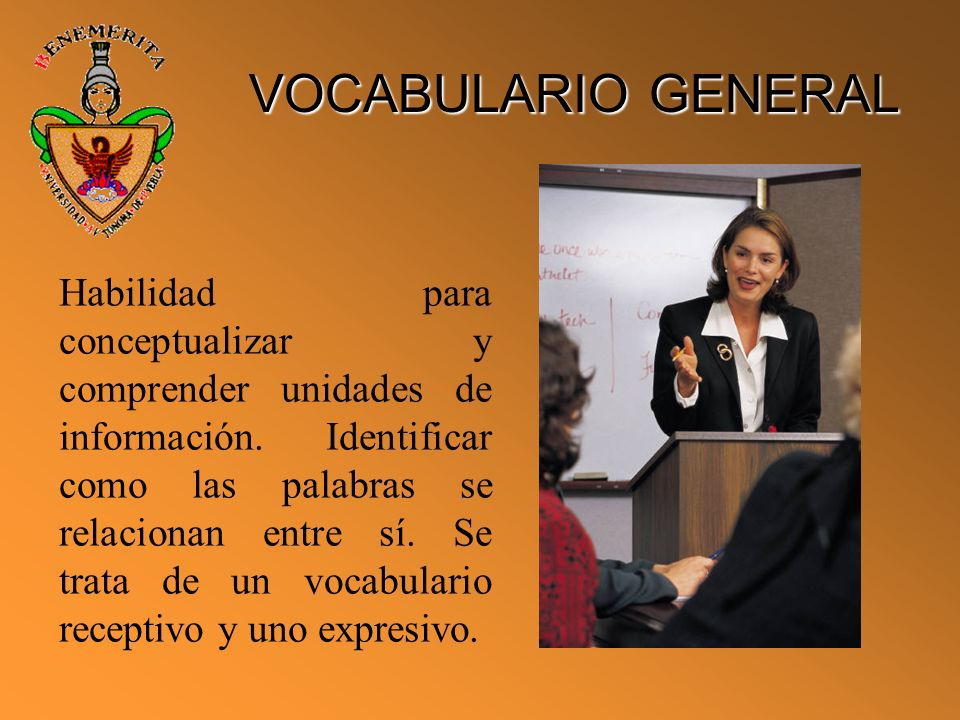 VOCABULARIO GENERAL