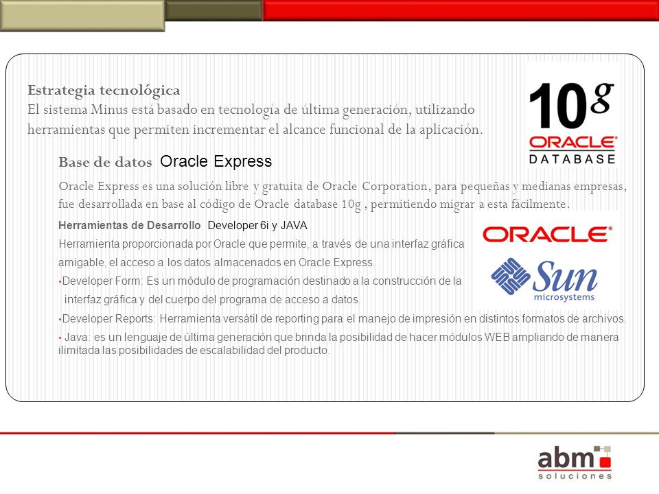 Base de datos Oracle Express
