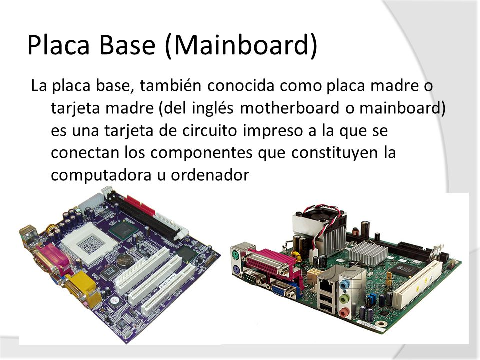 Placa Base (Mainboard)