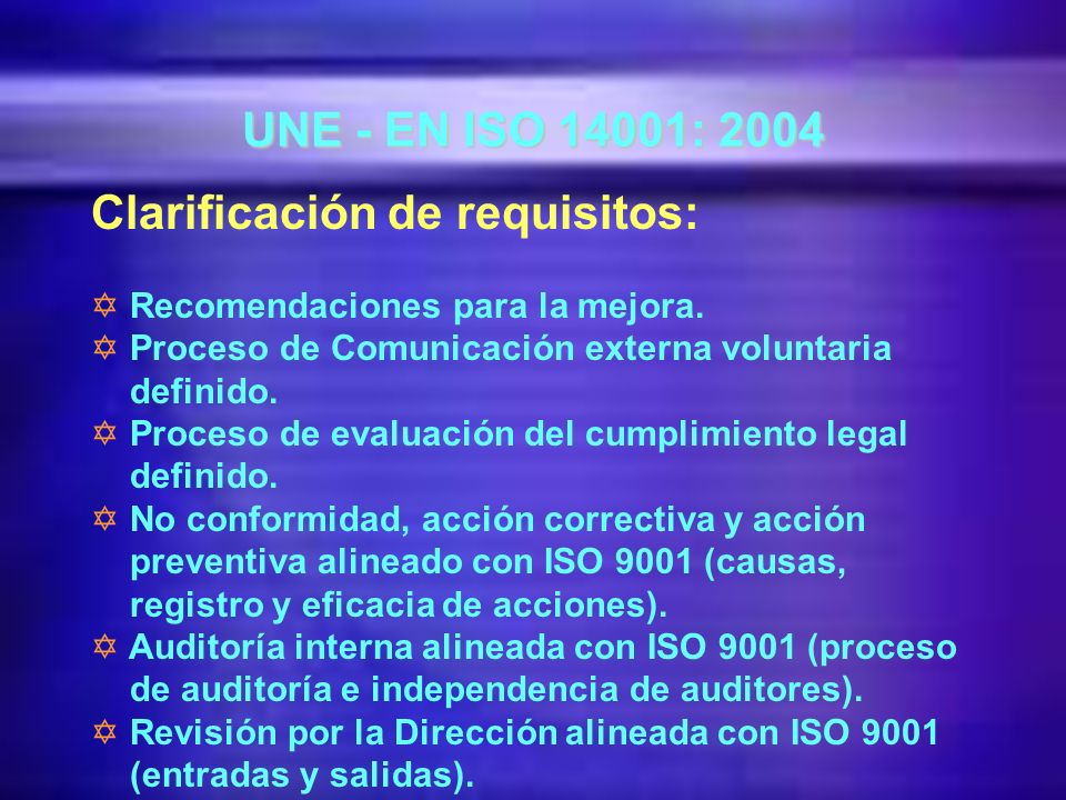 Clarificación de requisitos: