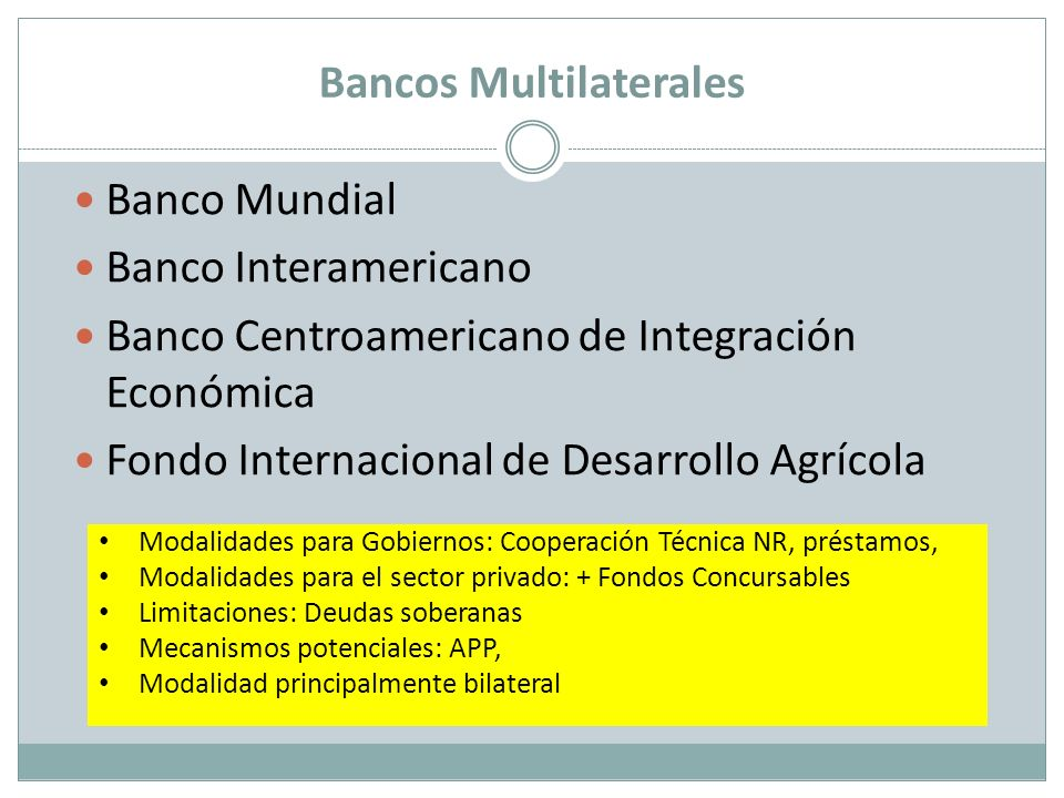 Bancos Multilaterales