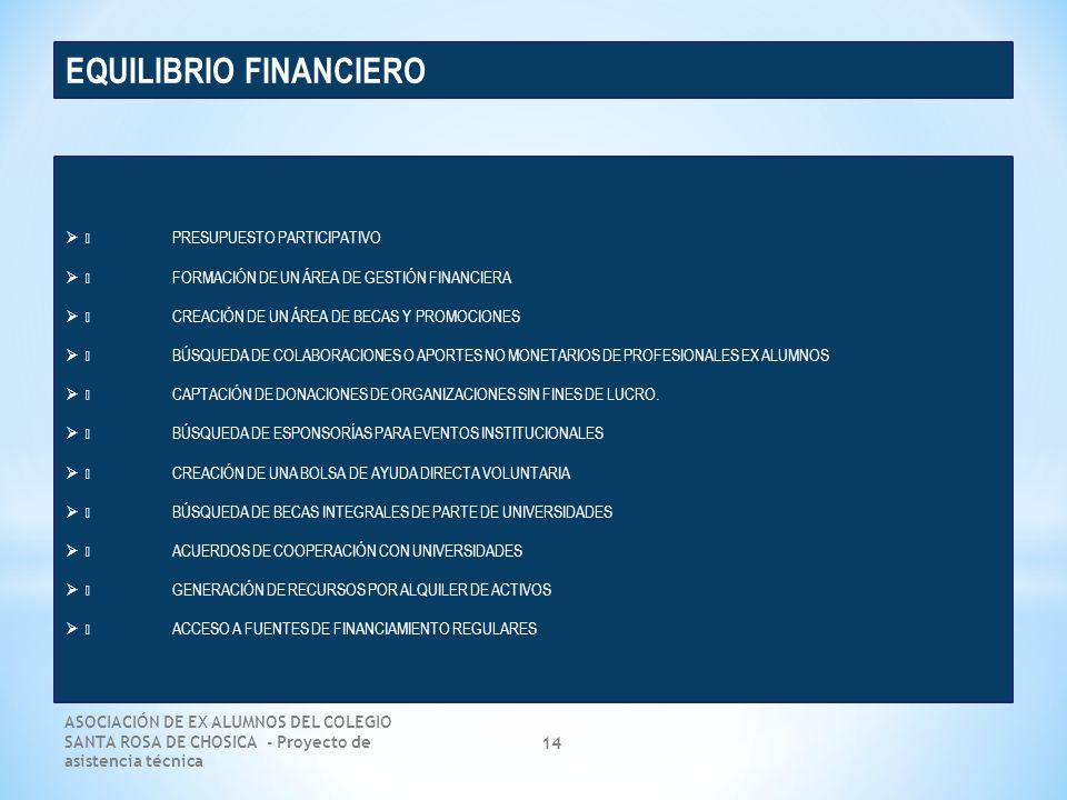 EQUILIBRIO FINANCIERO