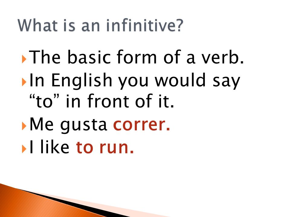 In English you would say to in front of it. Me gusta correr.