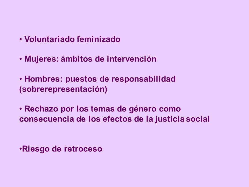 Voluntariado feminizado