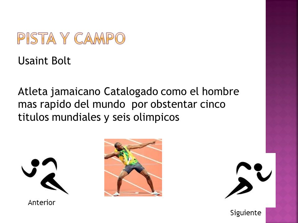 PISTA Y CAMPO Usaint Bolt