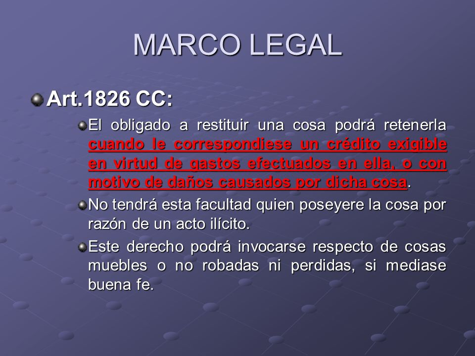 MARCO LEGAL Art.1826 CC: