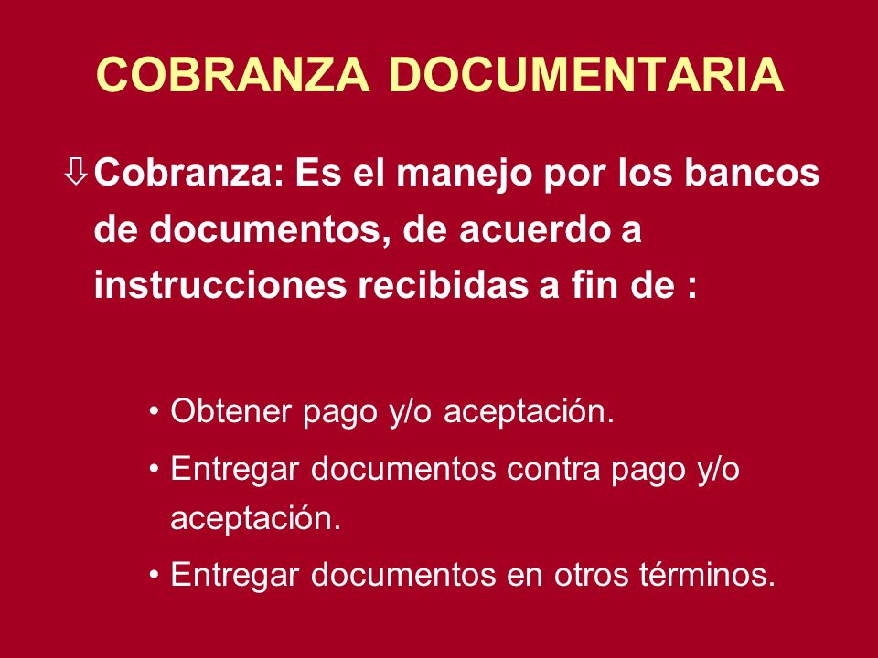 COBRANZA DOCUMENTARIA
