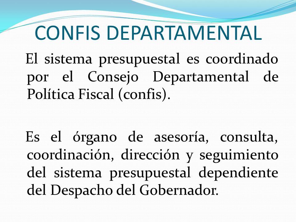 CONFIS DEPARTAMENTAL