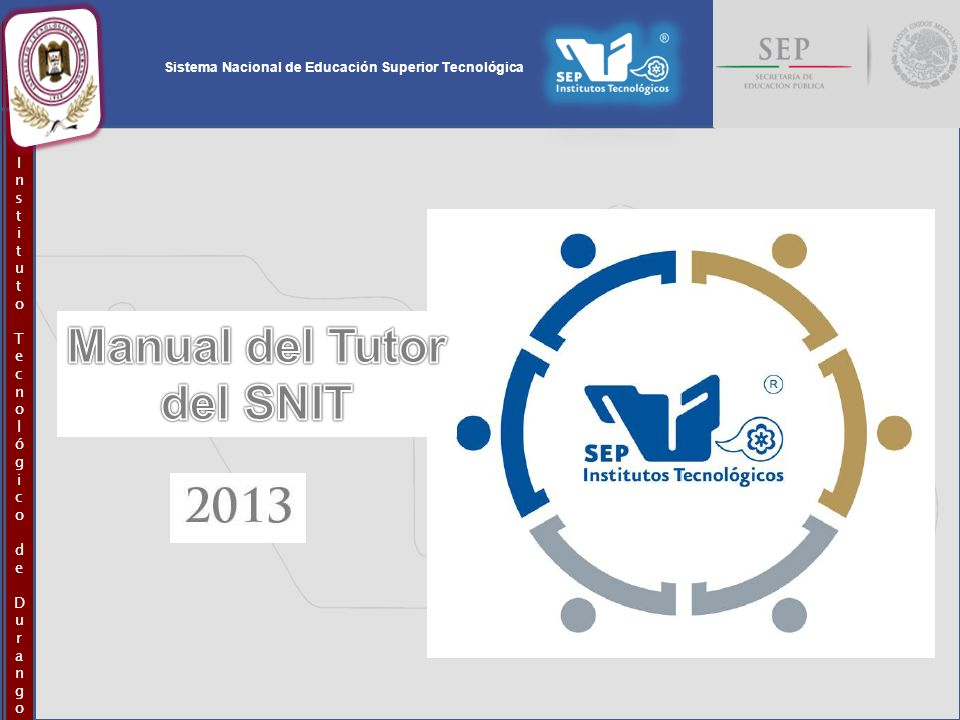Manual del Tutor del SNIT