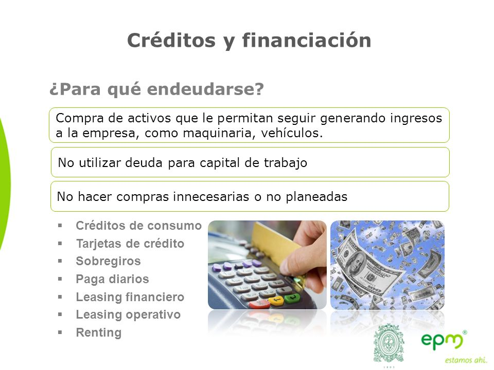 Créditos y financiación