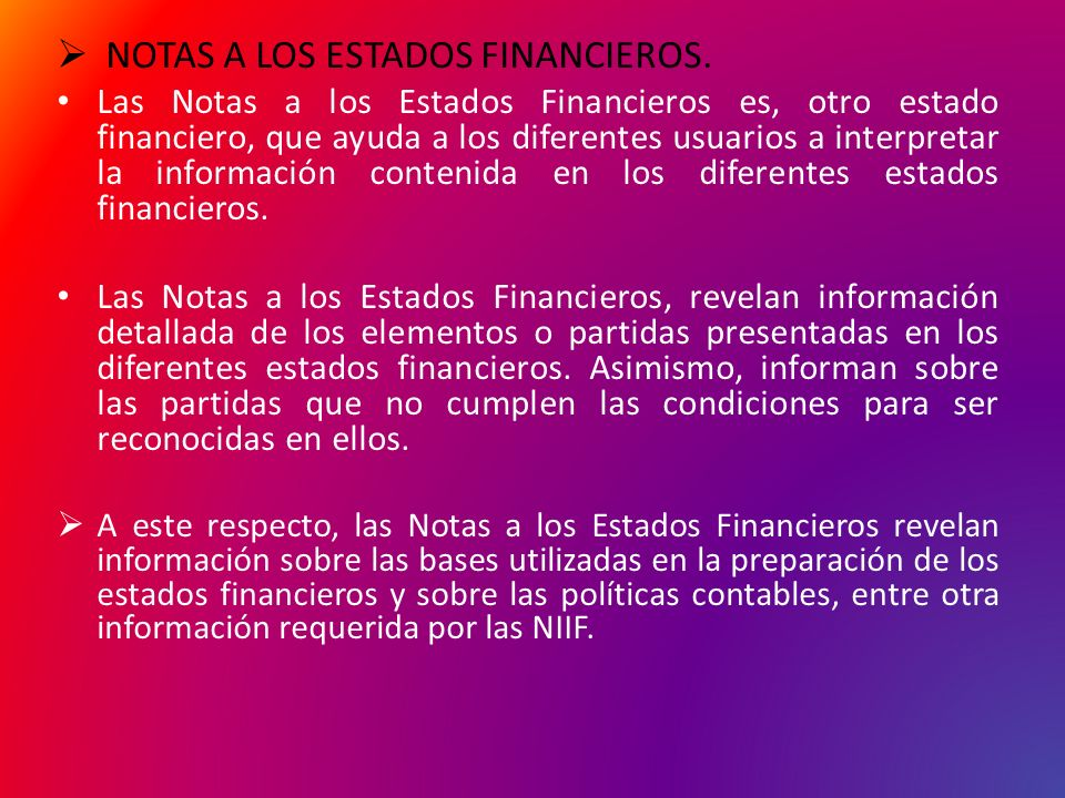 NOTAS A LOS ESTADOS FINANCIEROS.