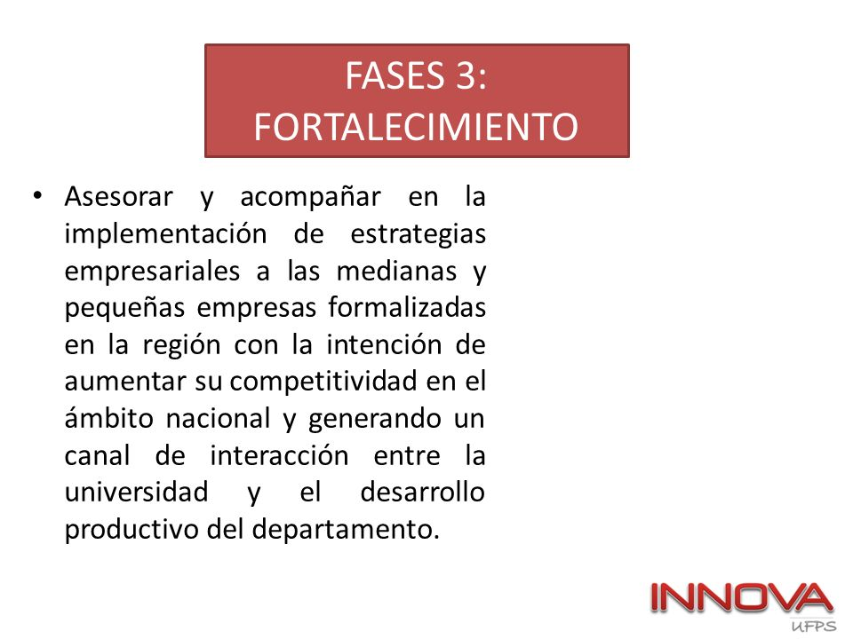 FASES 3: FORTALECIMIENTO