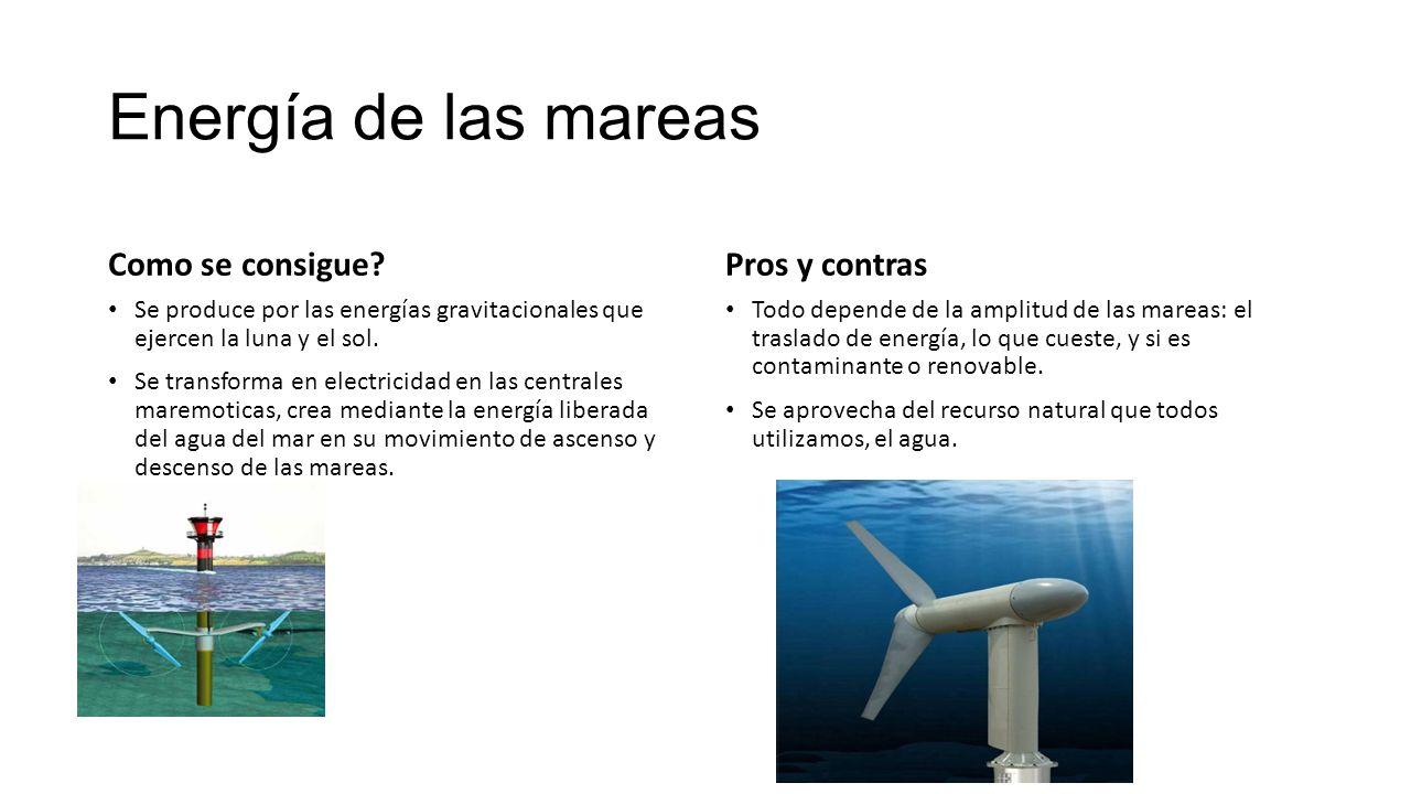 La Energia Mareomotriz Ppt Descargar
