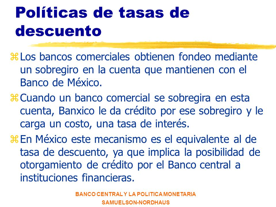 BANCO CENTRAL Y LA POLITICA MONETARIA