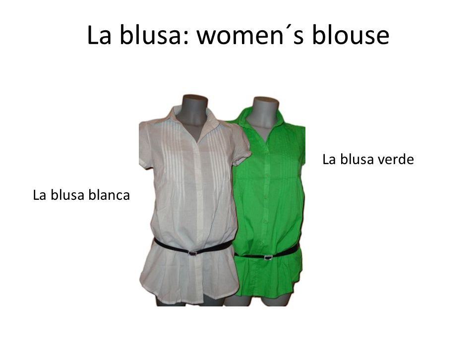 La blusa: women´s blouse