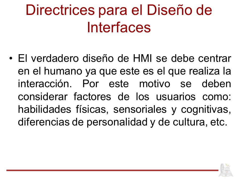 Directrices para el Diseño de Interfaces