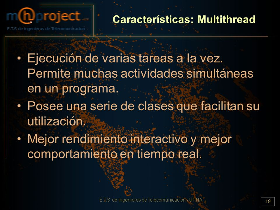 Características: Multithread