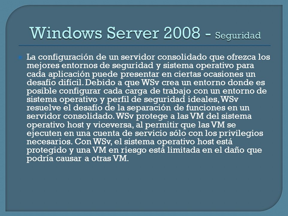 Windows Server Seguridad