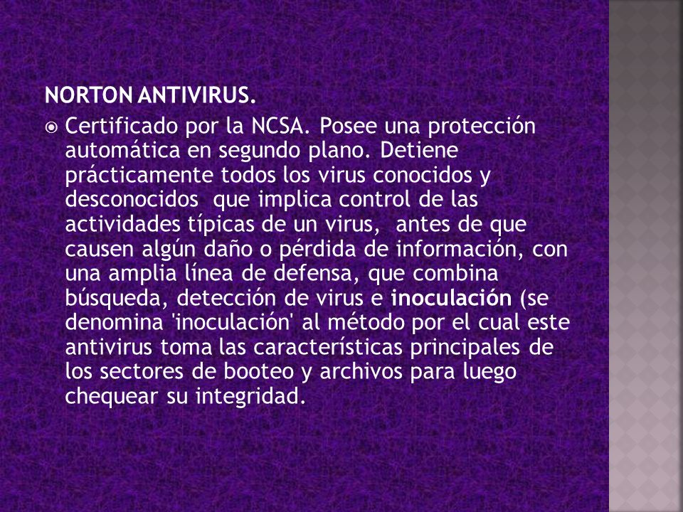 NORTON ANTIVIRUS.