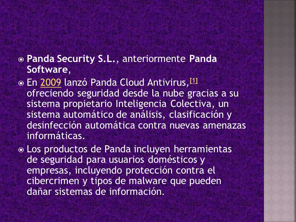 Panda Security S.L., anteriormente Panda Software,