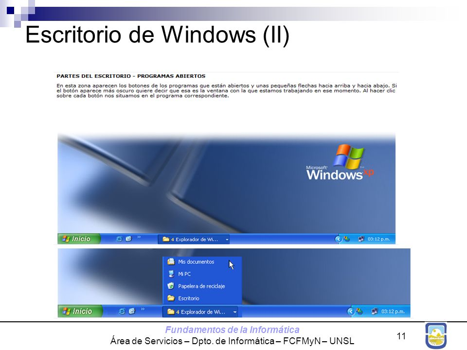Escritorio de Windows (II)