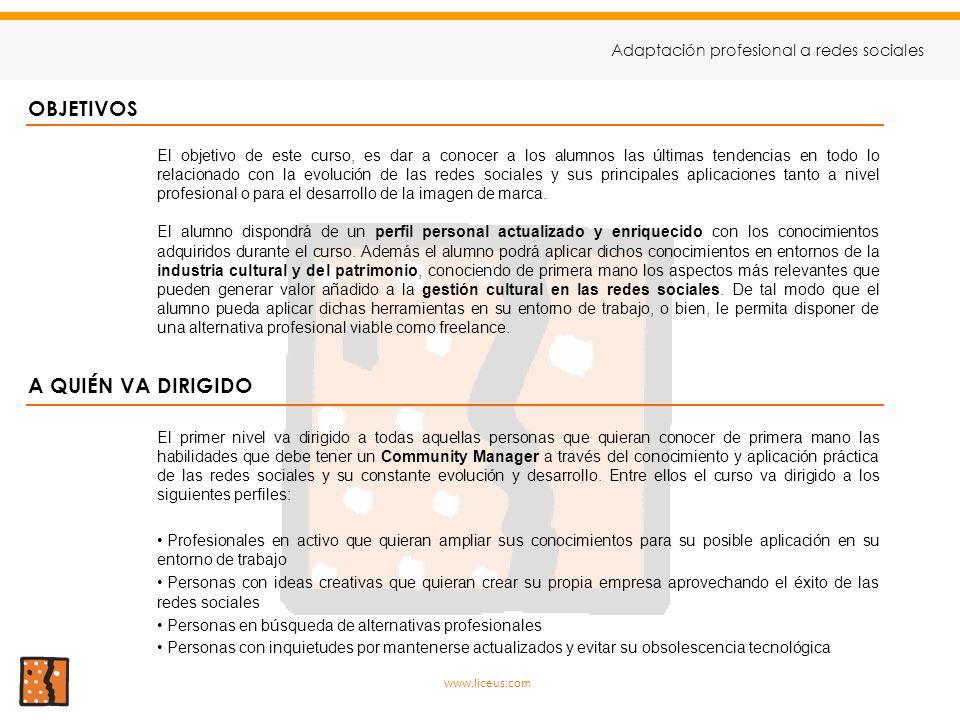 CURSO DE ADAPTACIÓN PROFESIONAL A REDES SOCIALES - ppt descargar 553b4827c9a3d