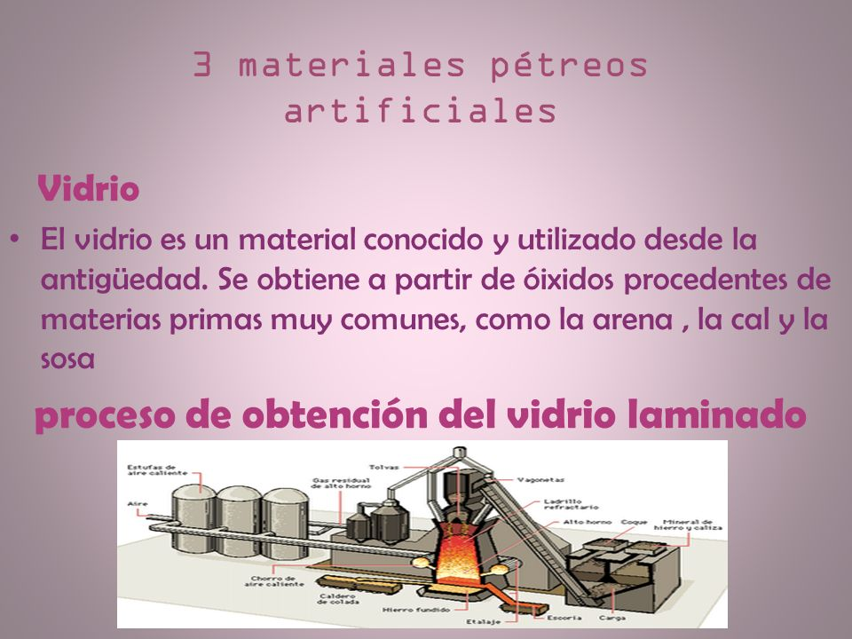 3 materiales pétreos artificiales
