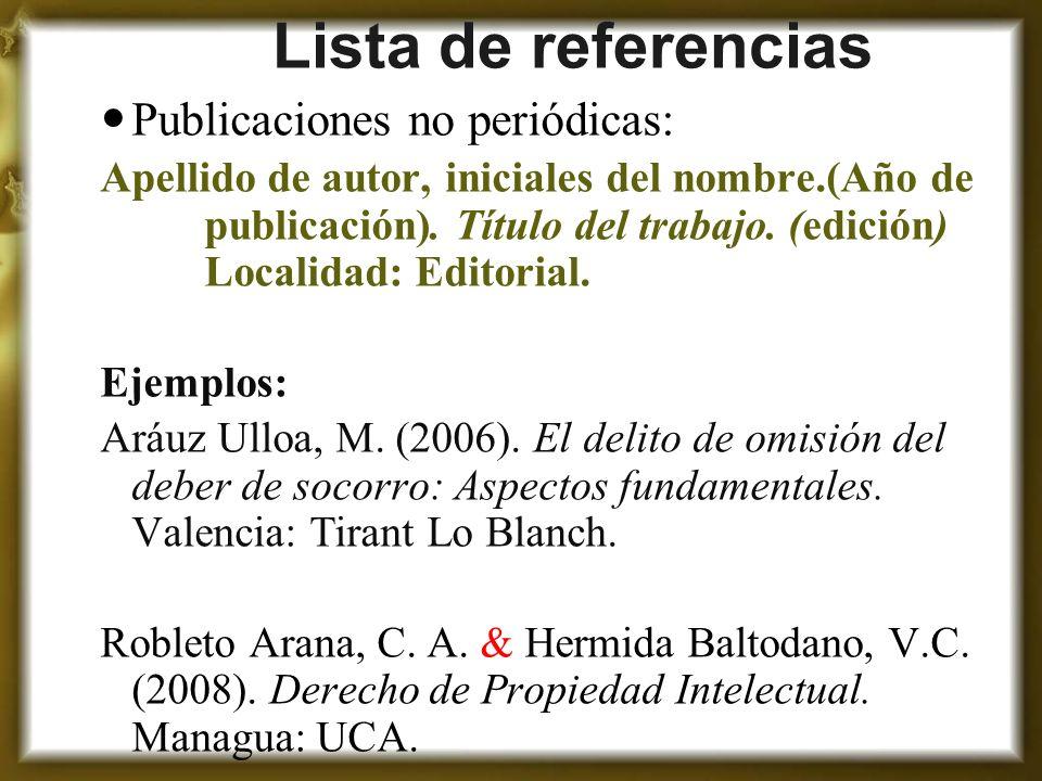 Ejemplos De Referencias Bibliograficas Apa Sexta Edicion