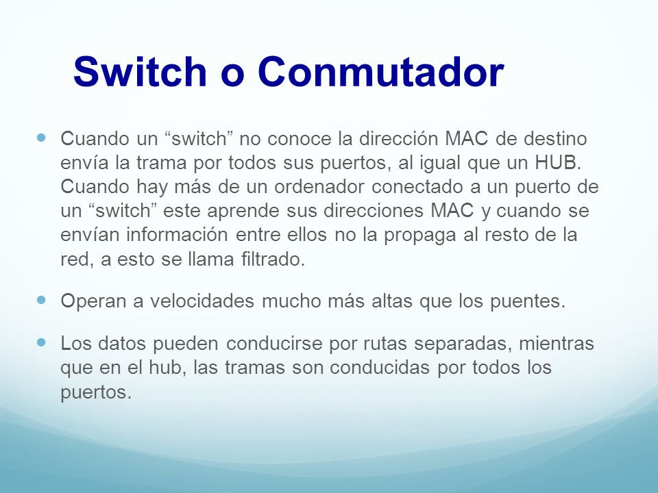 Switch o Conmutador