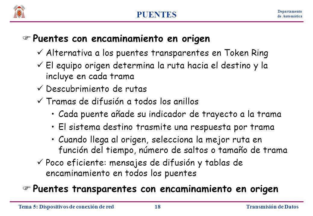 TRANSMISIÓN DE DATOS Ángel Moreno Departamento de Automática - ppt ...
