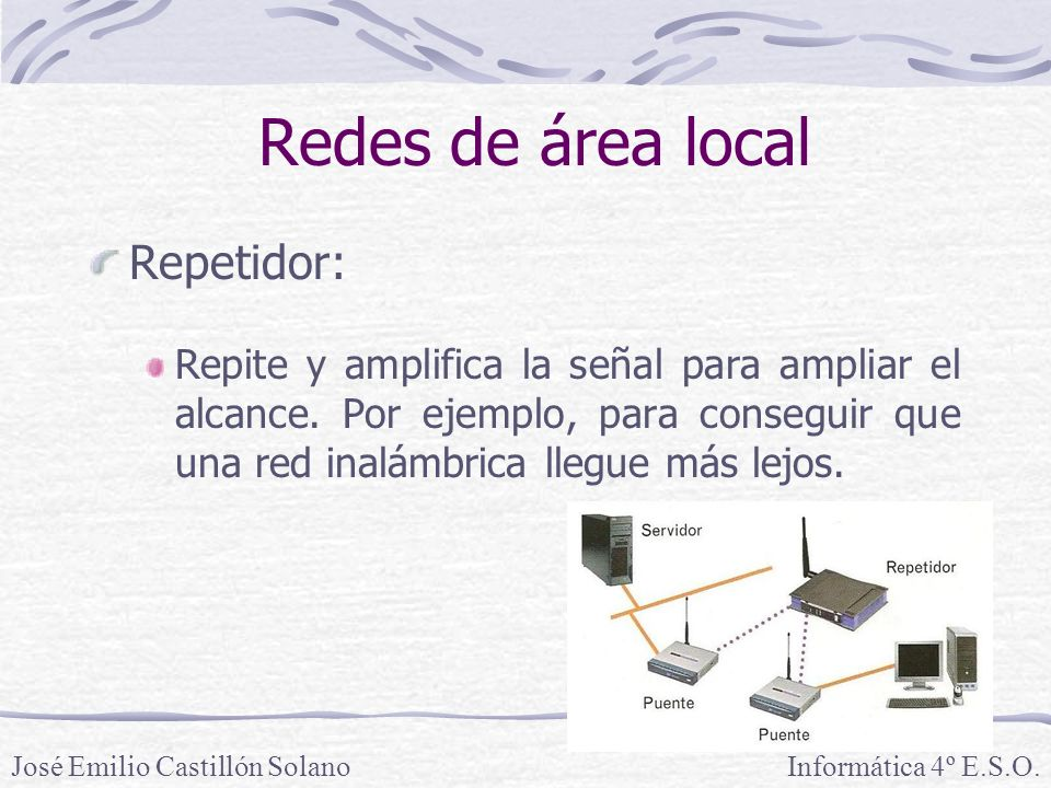 Redes de área local Repetidor:
