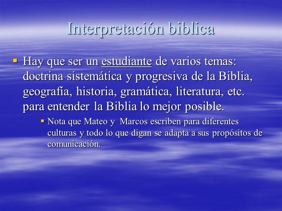 Interpretación biblica
