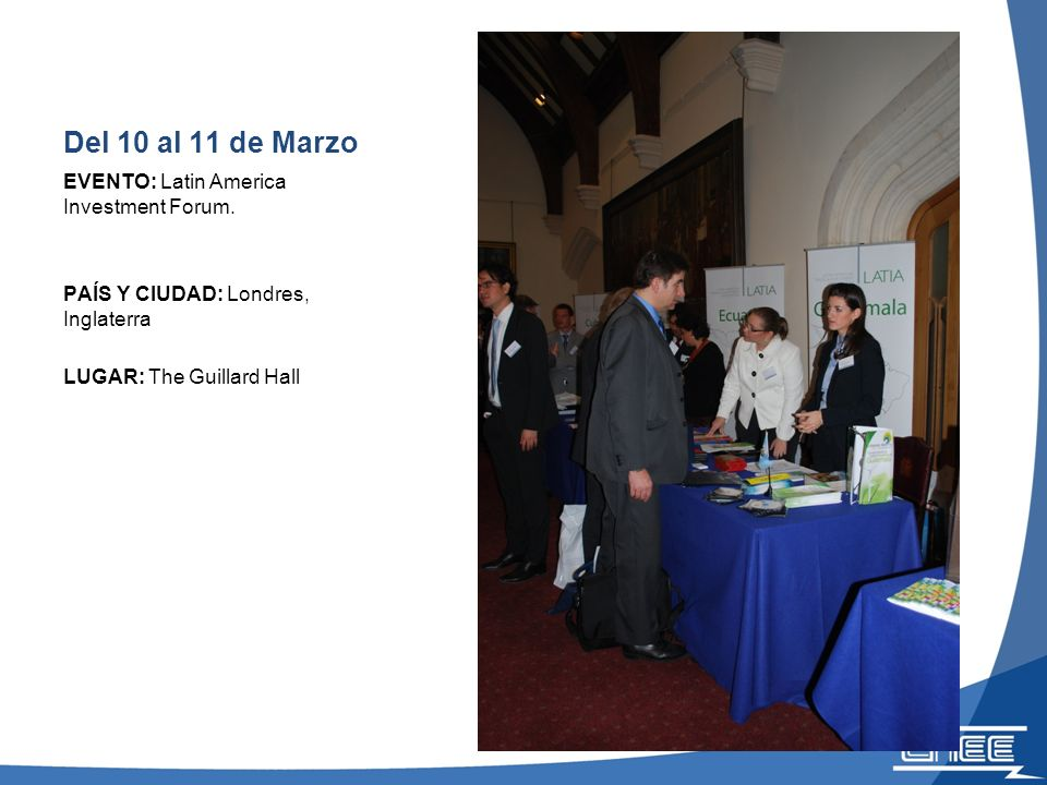 15 y 16 de Marzo EVENTO: Emerging Markets Investor Forum 2011.