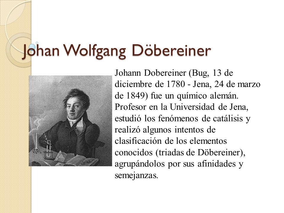 Las tradas de dobereiner ppt descargar johan wolfgang dbereiner urtaz Images