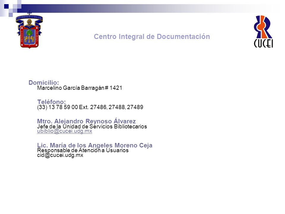 Centro Integral de Documentación