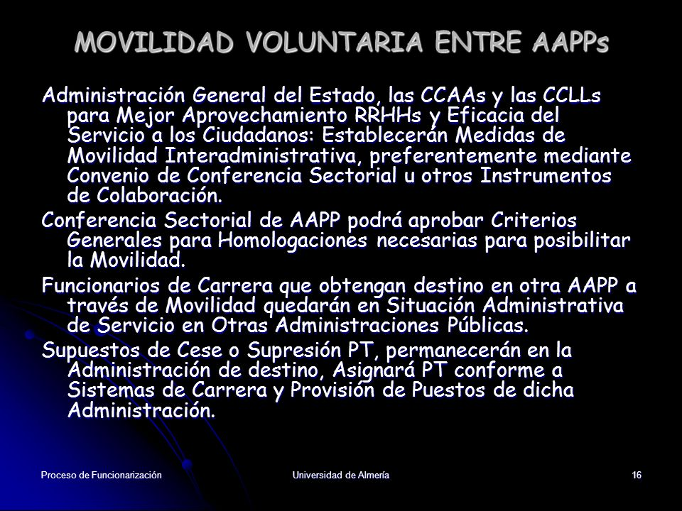 MOVILIDAD VOLUNTARIA ENTRE AAPPs