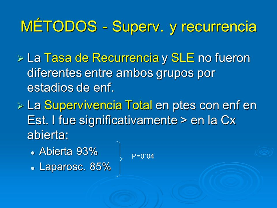 MÉTODOS - Superv. y recurrencia