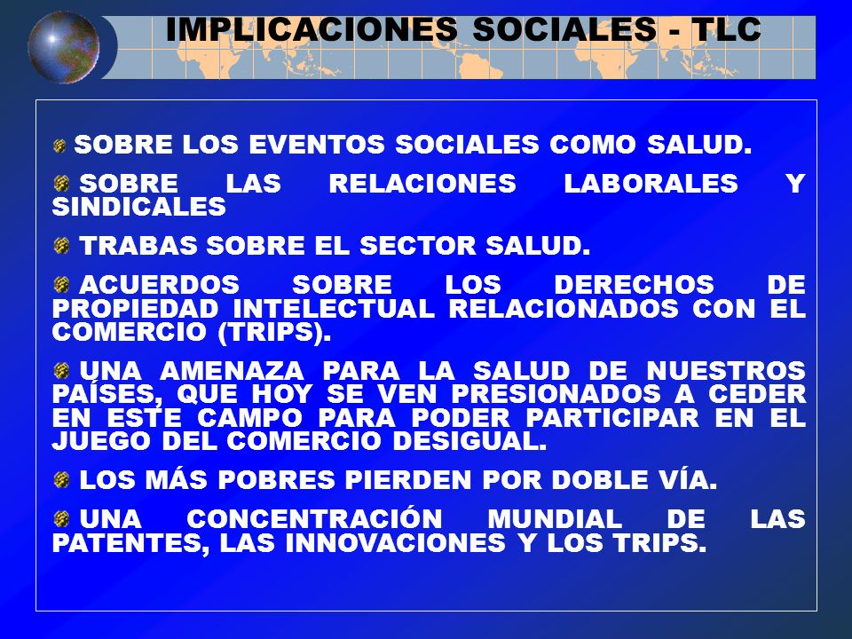 IMPLICACIONES SOCIALES - TLC