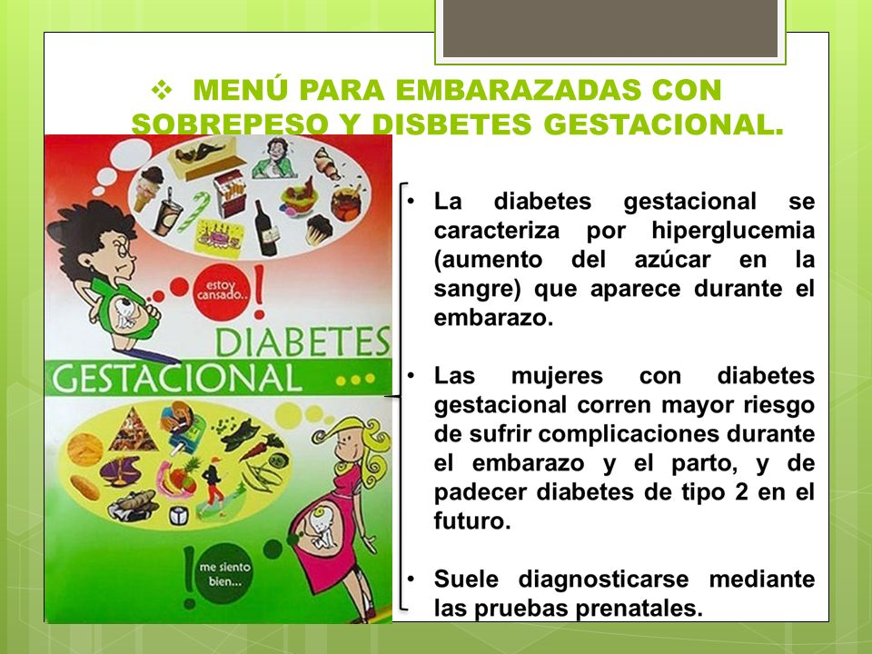 Menu para embarazadas con diabetes gestacional