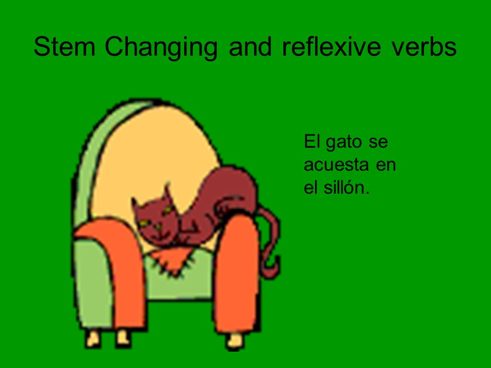 Stem Changing and reflexive verbs
