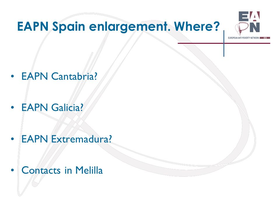 EAPN Spain enlargement. Where