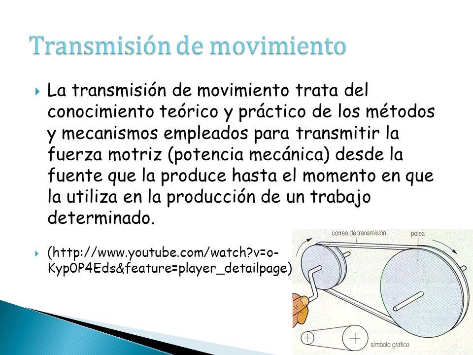 Tipos de transmisión de movimiento